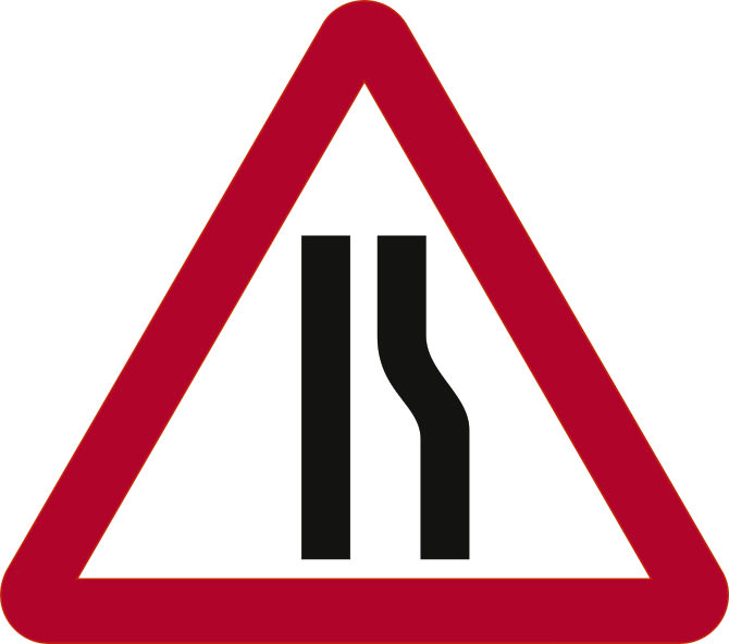 600mm Triangle Road Sign Plates