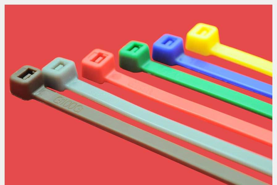 Colourful Cable Ties 200 x 4.8mm per 100