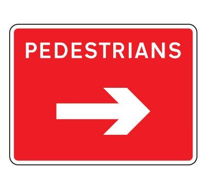600 x 450mm Road Sign Plates