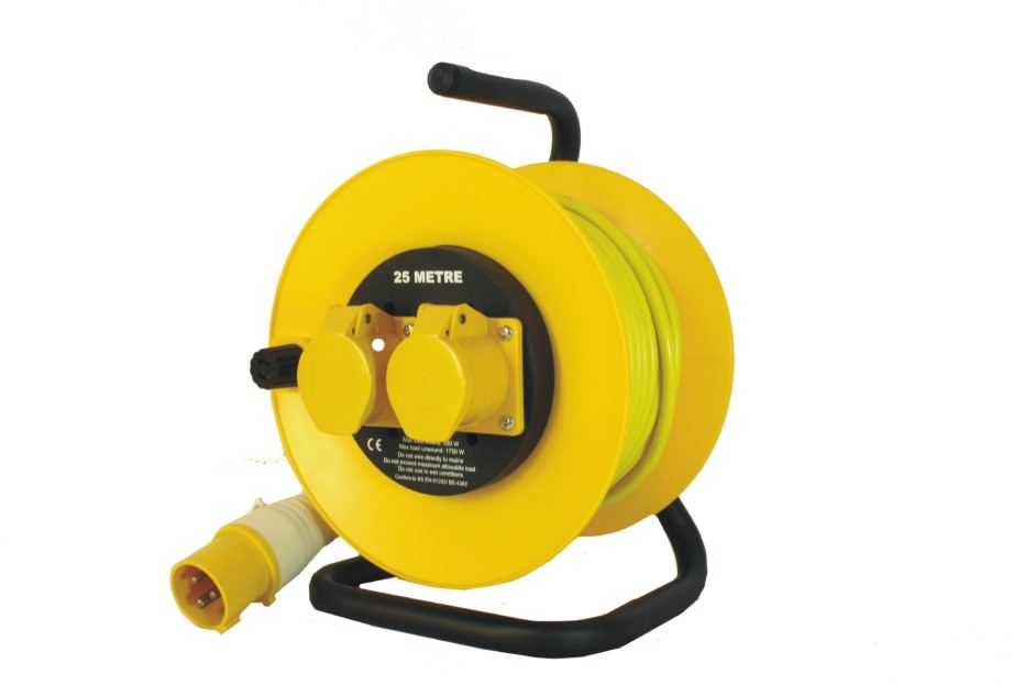 25m 110v 1.5mm 16amp Open Cable Reel 4035