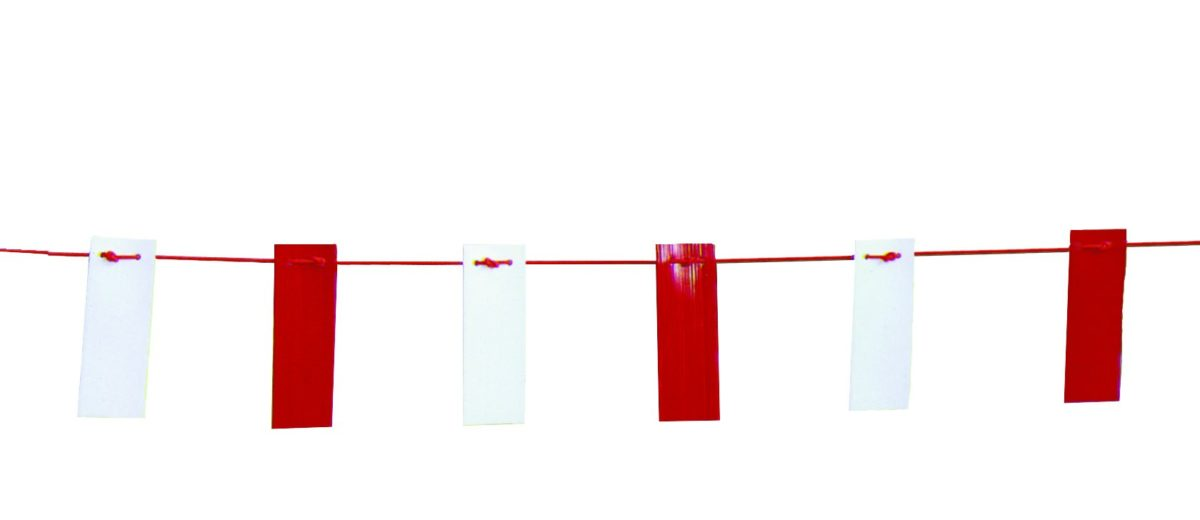 26m Red & White Bunting Tape