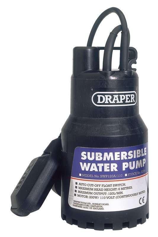 """Draper 1"""" 120L/Min 200W Submersible Water Pump 110V"""