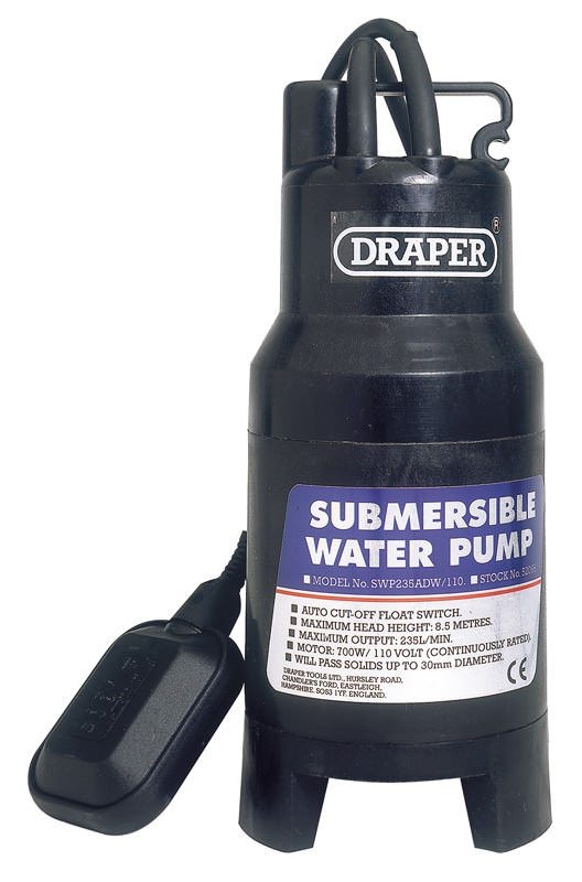 "Draper 1 1/4"" Submersible Dirty Water Pump 110V"