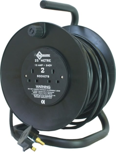 25m 240v 13amp 1.5mm Open Cable Reel 8005