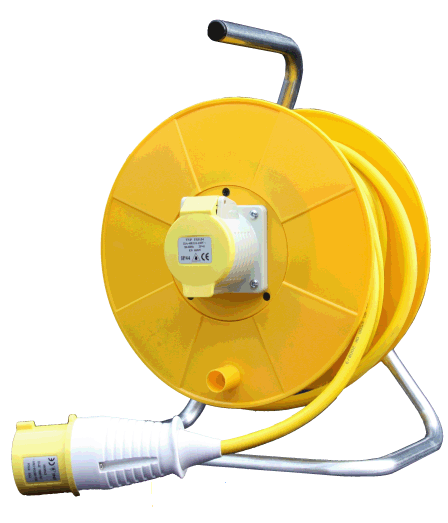 20m 110v 32amp Open Cable Reel 4.0mm 8038