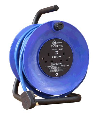 25m 240v 13amp Open Cable Reel 2.5mm 8050