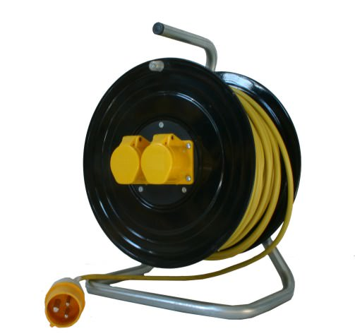 50m 110v 16amp Open Cable Reel 9045