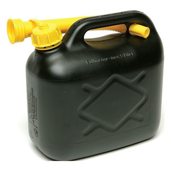 5 Litre Fuel Can Black