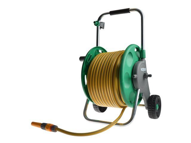 Hozelock Assembled Reel + 50 Metres of Hose + Fittings