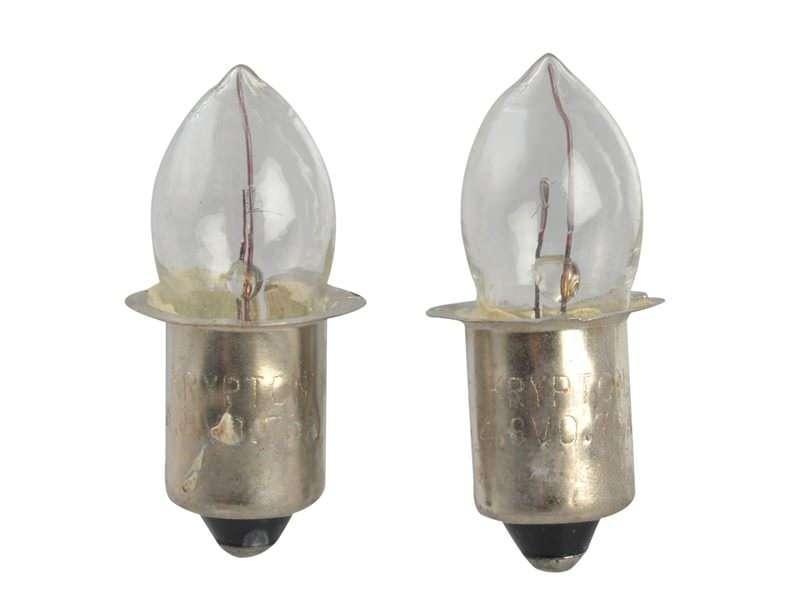 Lighthouse Krypton Bulbs (2) 4.8v Push (T996)