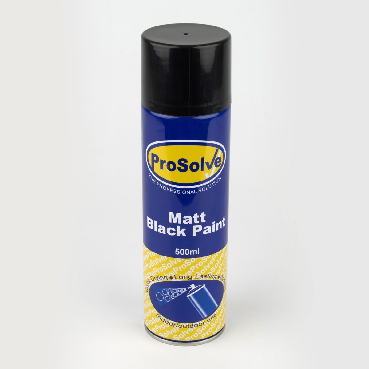 500ml matt black paint spray sibbons Black spray paint