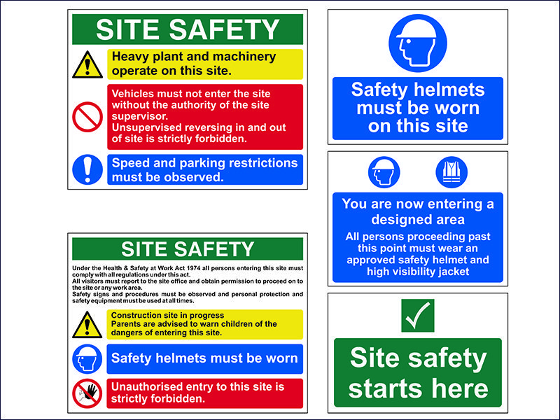 Construction Site Signs 5-Pack
