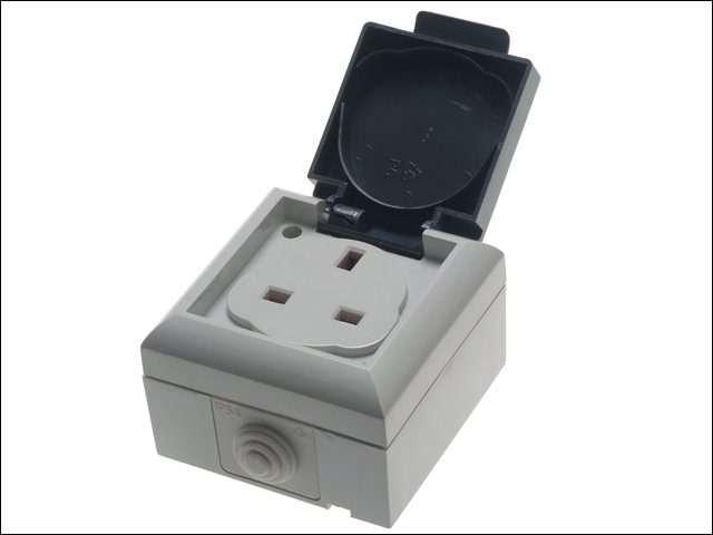 IP54 Outdoor Socket 13A Single Gang