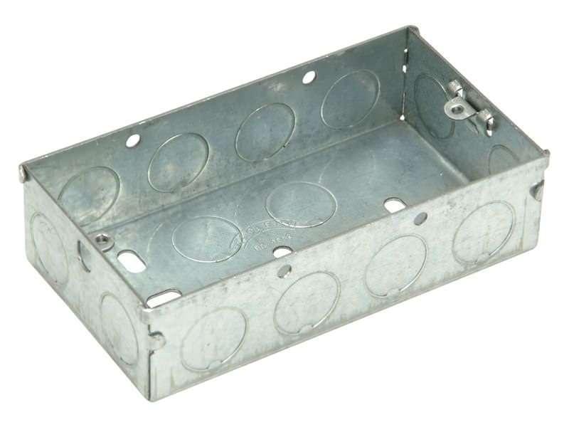 Metal Box 35 mm 2 Gang