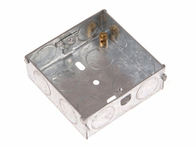 Metal Back Box 25mm 2 Gang