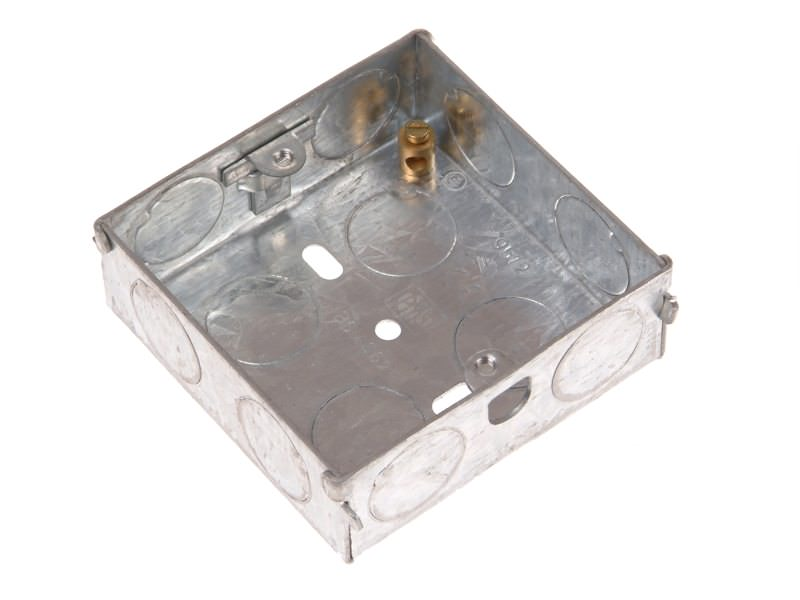Metal Back Box 25mm 1 Gang