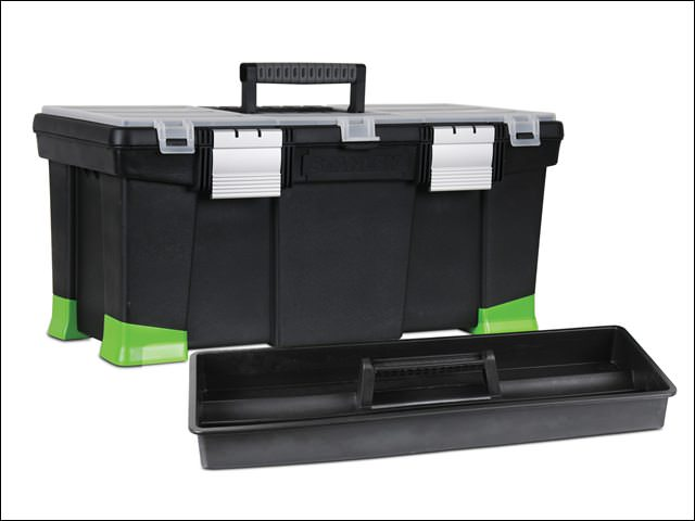 Stanley Toolbox 22-Inch With Hi-Viz Tapered Corners