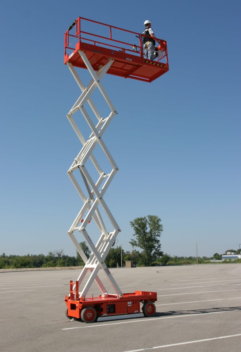 11.5m Electric Hard Ground Scissor Lift