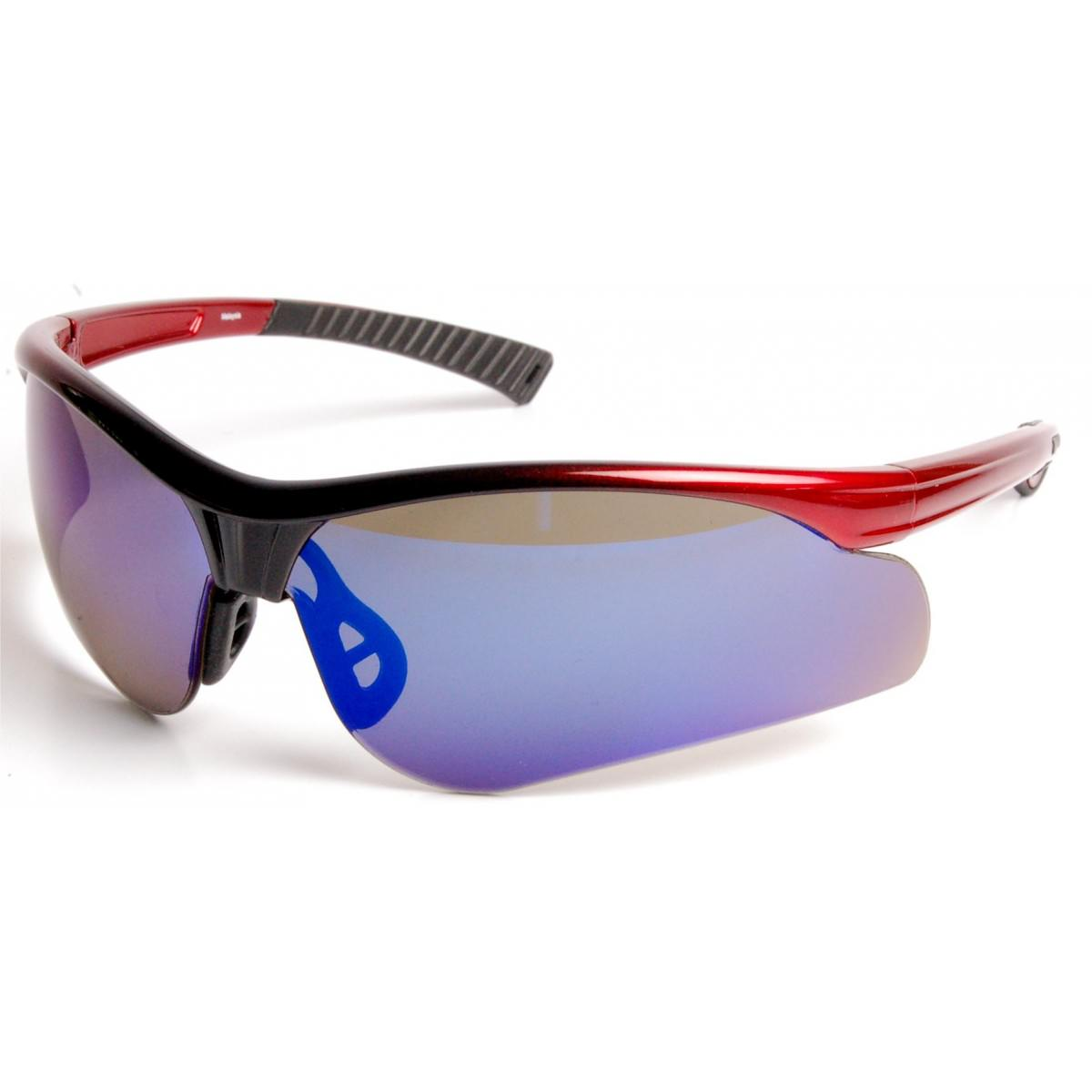 Solar Blue Mirrored Safety Glasses