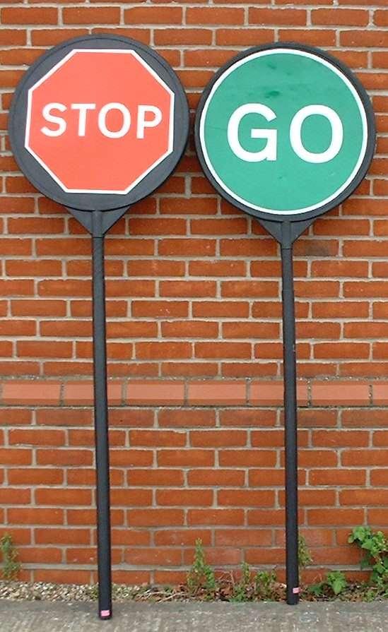 Plastic Stop & Go Board