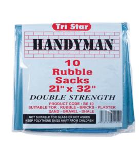 Pack Of 6 Rubble Sacks