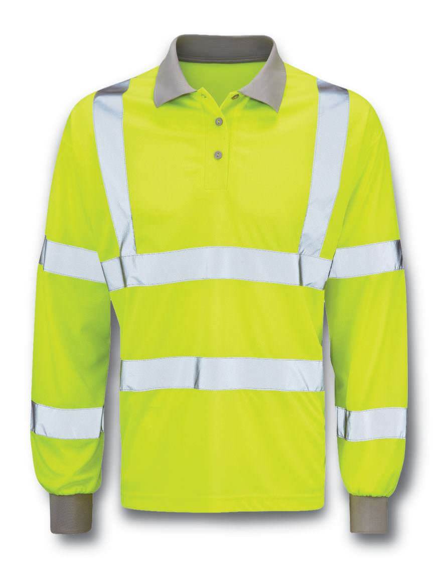 Hi-Vis Long Sleeve Polo Shirt