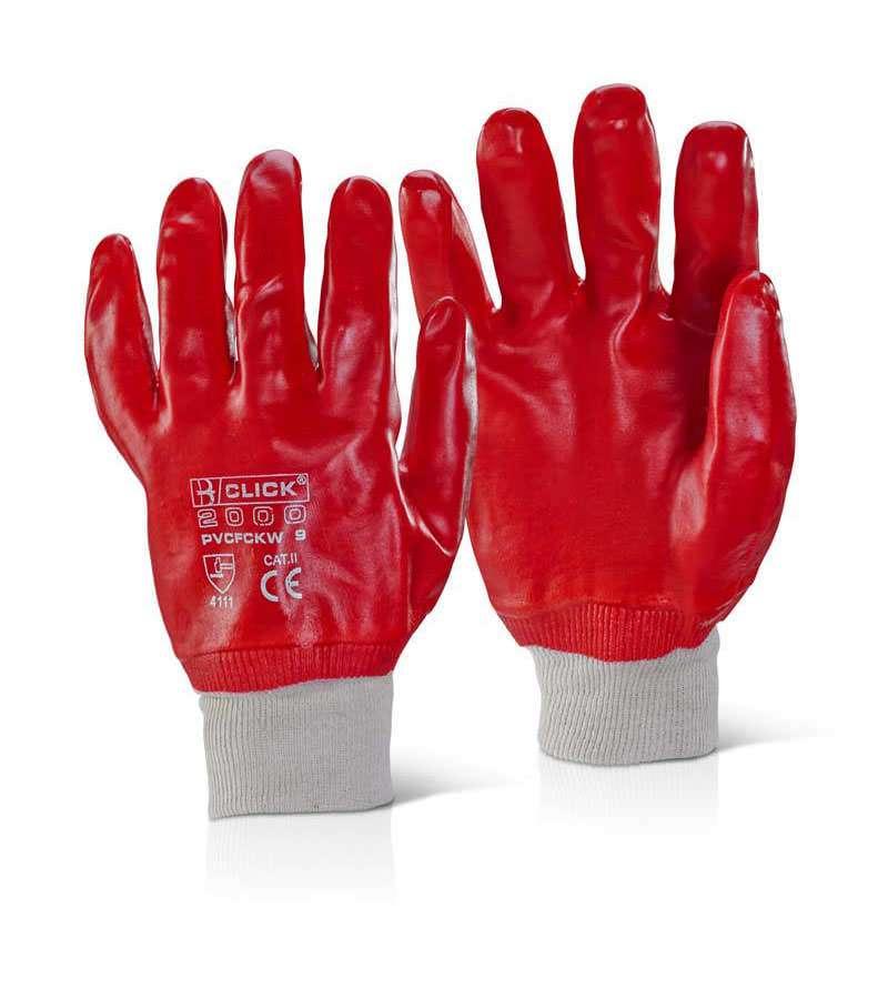 Knit Wrist PVC Glove