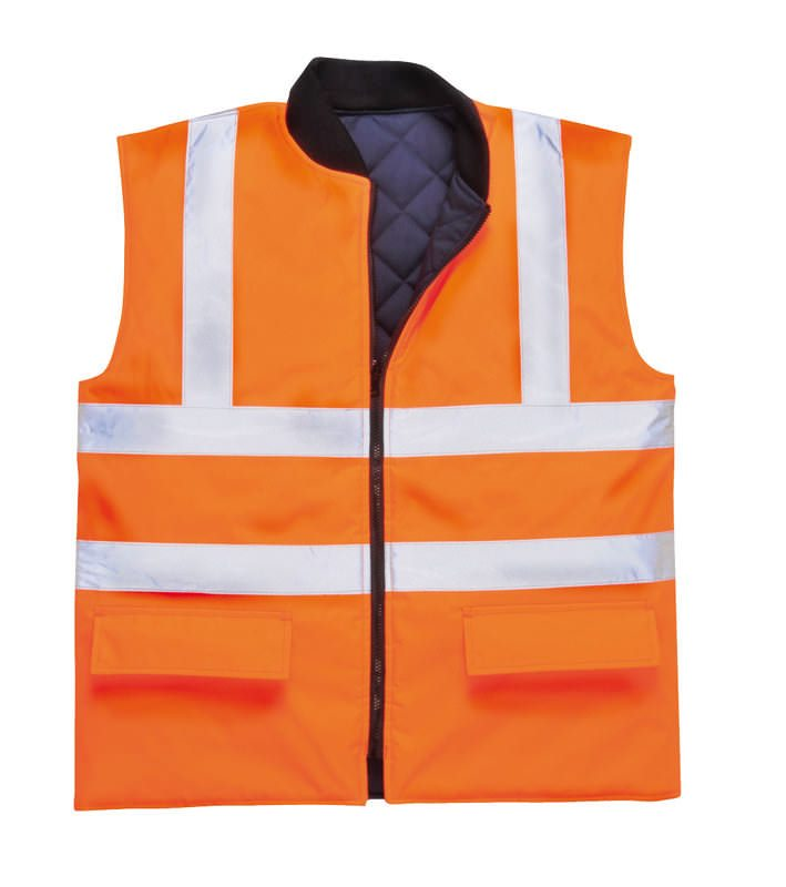 Railtrack Orange Bodywarmer
