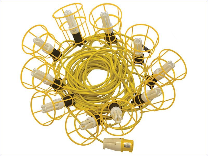 Festoon Lights Low Energy Bulbs 25m 10 Bulbs 110 Volt