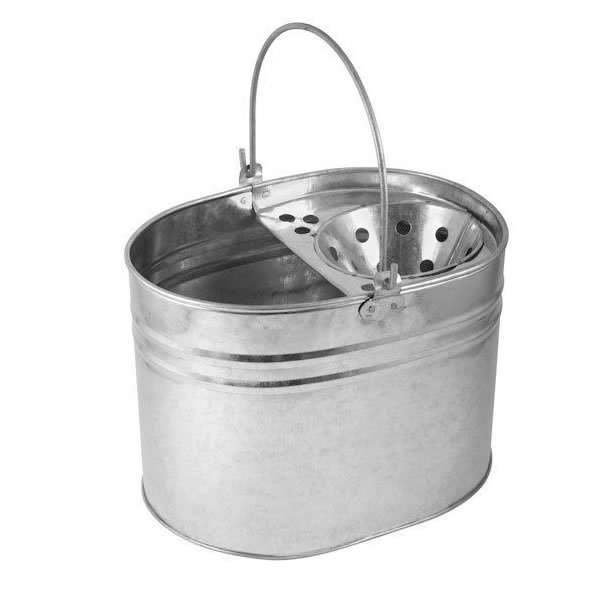 Galvanised Mop Bucket & Wringer
