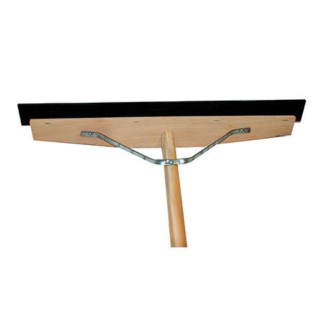 "24"" Wooden Handle Rubber Squeegee"