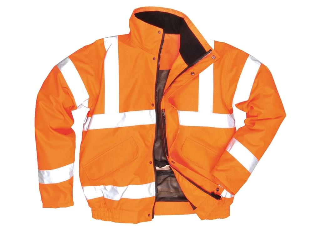 Railtrack Orange Bomber Jacket