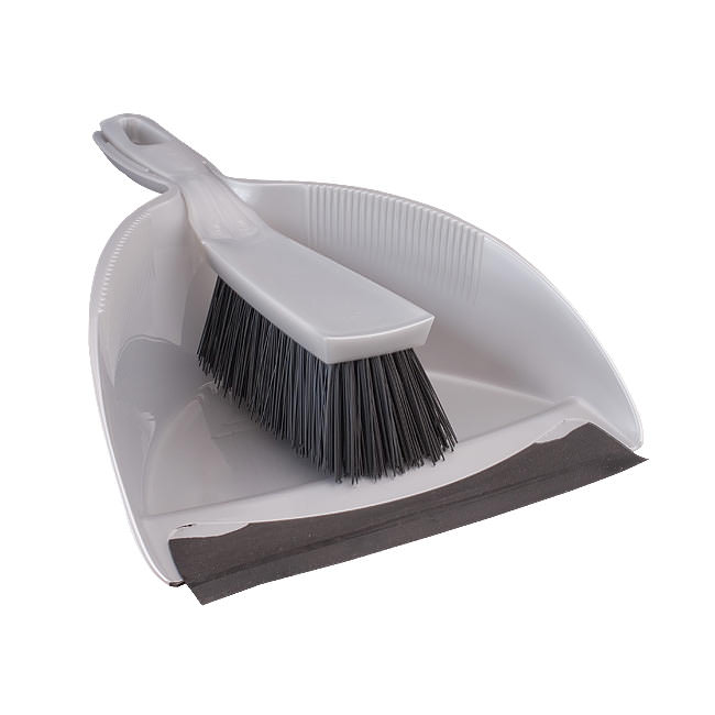 Dustpan and Brush with Stiff Head
