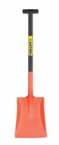 Plastic Snow/Muck Shovel Orange & Black