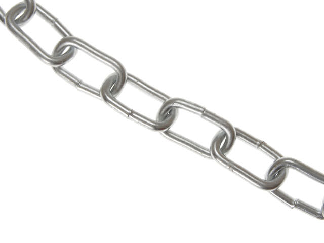 Zinc Plated Chains 6mm x 15m Coil