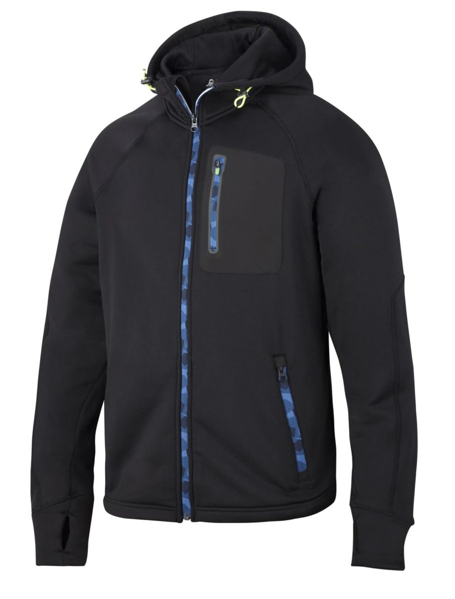 Snickers 8000 FlexiWork, Stretch Fleece Hoodie