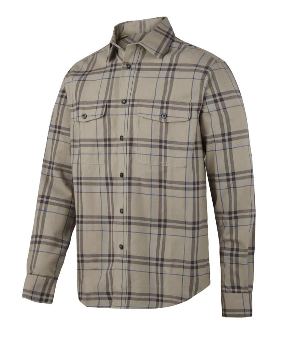Snickers 8502 RuffWork, Flannel Checked LS Shirt