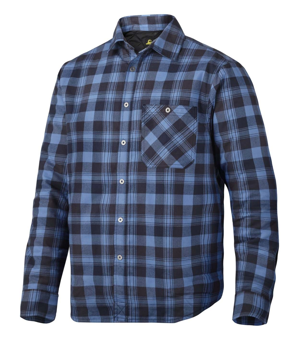 Snickers 8501 RuffWork, Padded Flannel Checked LS Shirt