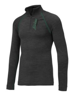 Snickers 9441 FlexiWork Seamless Wool LS HZ Shirt