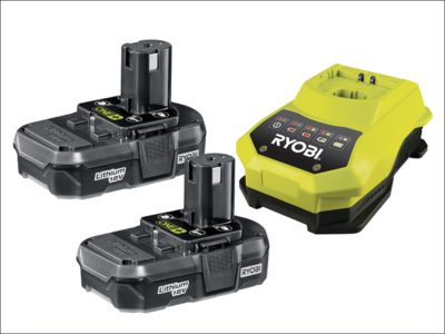 Ryobi ONE+ 18V Batteries & Charger 18 Volt 2 x 1.3Ah Li-Ion