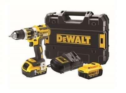 DEWALT XR Li-ion Combi Drill 18 Volt 1 x 5.0Ah & 1 x 4.0Ah Li-ion