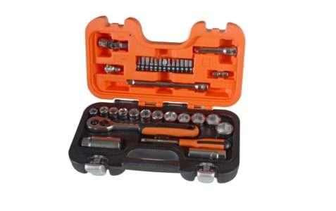 """Bahco S330 Socket Set of 34 Metric 1/4"""" & 3/8"""" Drive"""