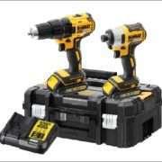 DeWalt 18V 2x2Ah XR Li-ion Brushless Drill driver/Impact Twin Kit