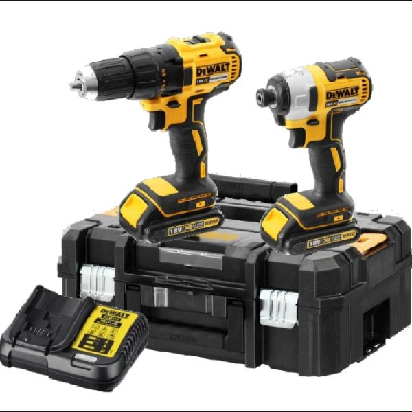 DeWalt 18V 2x2Ah XR Li-ion Brushless Drill driver/Impact Twin Kit