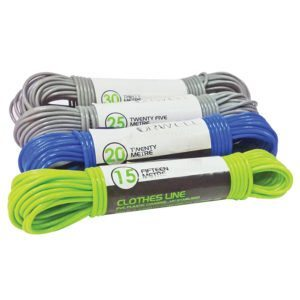 Clothes Line Wire Centre PVC Coated Grey, White, Blue, Green, Red