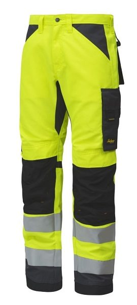 Snickers 6331 AllroundWork, High-Vis Work Trousers+ CL2