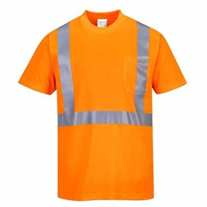 Hi Vis Round Neck Shirt Short Sleeve