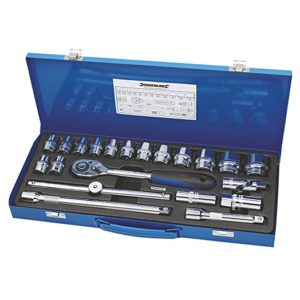 "Silverline Socket Wrench Set 1/2"" Drive Metric 21 Piece"
