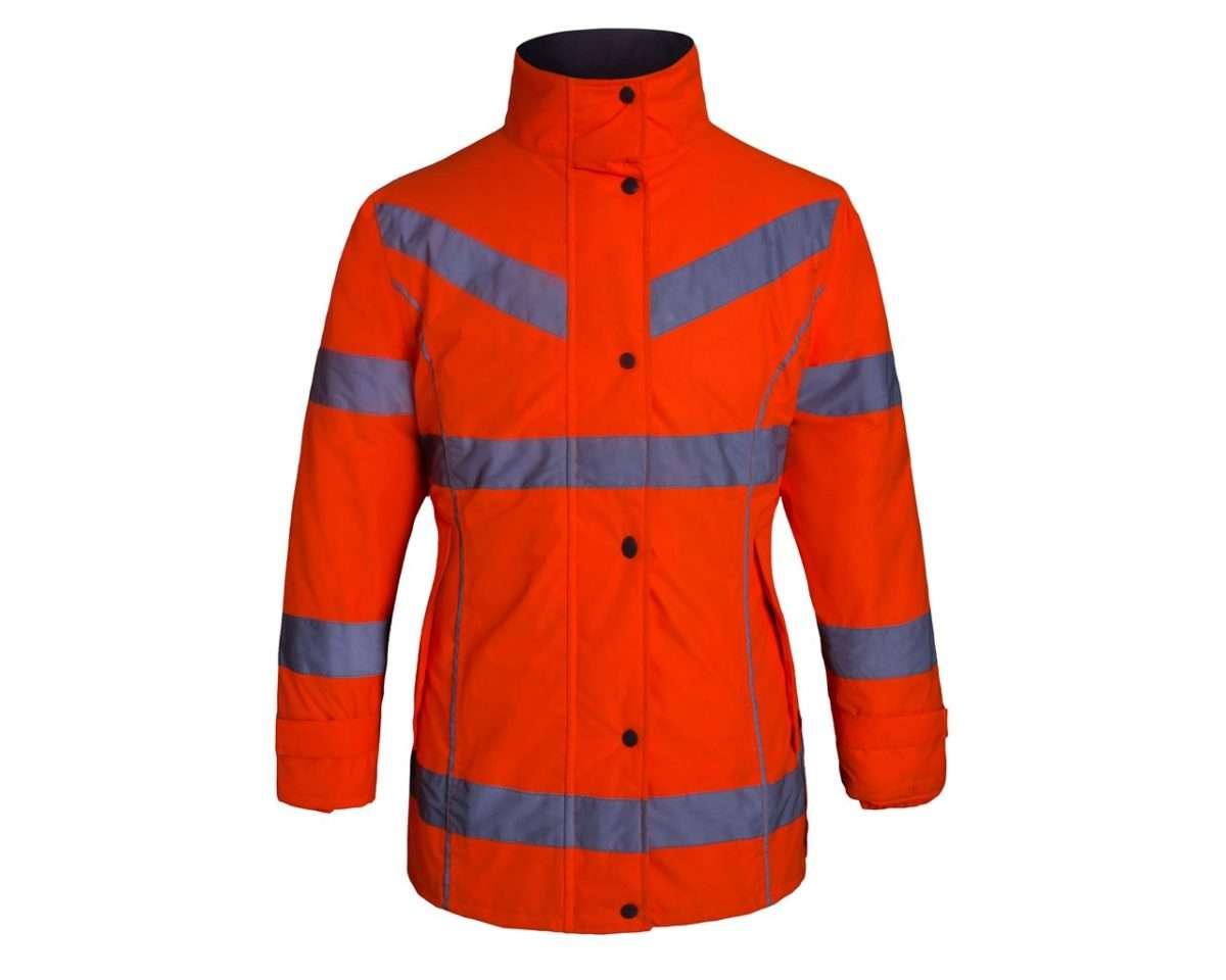 Aqua Ladies Hi Vis Weather Jacket Sibbons