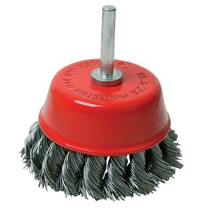 Silverline Rotary Steel Twist-Knot Cup Brush